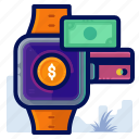 commerce, ecommerce, shop, shopping, smartwatch icon