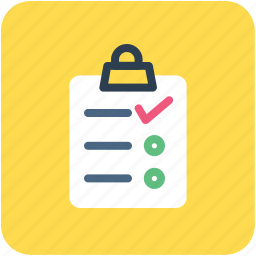 checklist, list, memo, shopping list icon