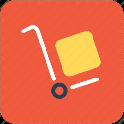 hand trolley, hand truck, hotel trolley, luggage trolley, platform truck icon