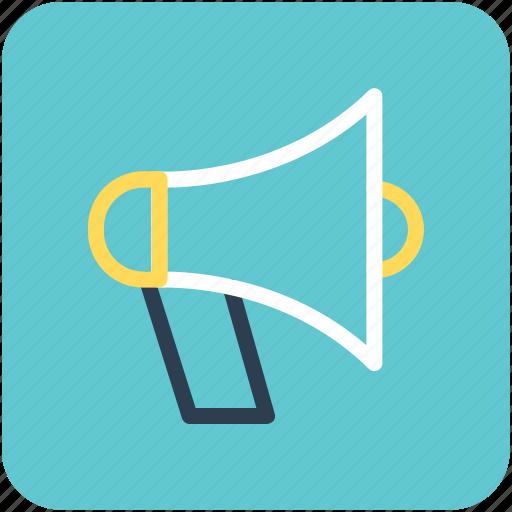 announcement, bullhorn, loud hailer, megaphone, speaking-trumpet icon