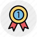 award, award badge, badge, first, label, ribbon icon