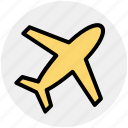 aircraft, airplane, flight, fly, plane, transport, travel icon