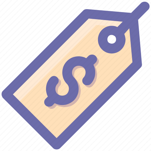 dollar, label, money, price tag, sign, tag icon