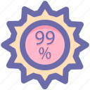 discount, market discount, percent, percent discount, shopping discount icon