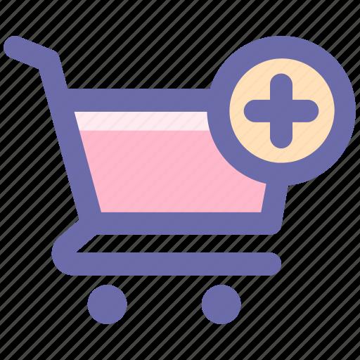 add, cart, ecommerce, plus, shopping, shopping cart icon