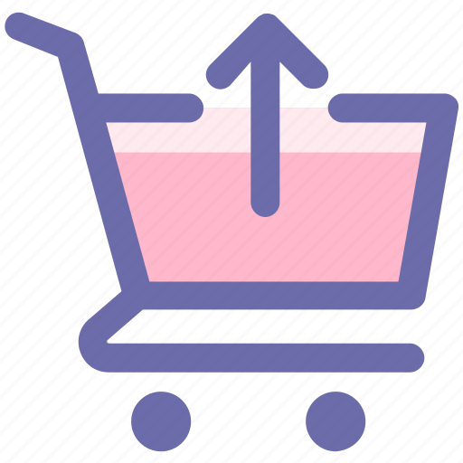 arrow, cart, ecommerce, shopping, shopping cart, up icon