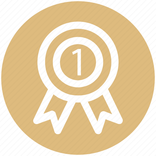 award, award badge, badge, first, label, ribbon icon