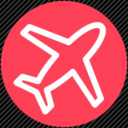 aircraft, airplane, flight, fly, plane, transport, travel icon