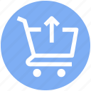 arrow, art, ecommerce, shopping, shopping cart, up icon