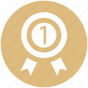 award, award badge, badge, first, label, ribbon