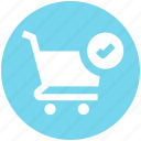 accept, cart, check, ecommerce, shopping, shopping cart icon