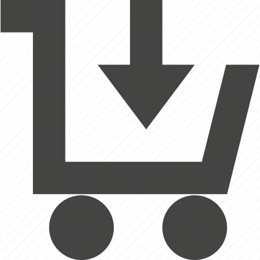 cart, checkout, down, ecommerce, shopping icon
