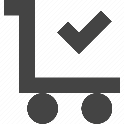 cart, check, checkout, shopping icon