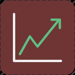 business chart, infographics, line chart, line graph, progress chart icon