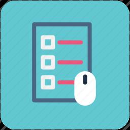 checklist, list, memo, mouse, shopping list icon