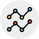 connect, diagram, graph, points, status icon