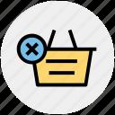 basket, clothes basket, delete, ecommerce, reject, shopping, shopping basket