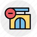 building, market store, minus, shop, shopping market, store icon