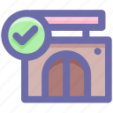 building, check, check store, market store, shop, shopping market icon