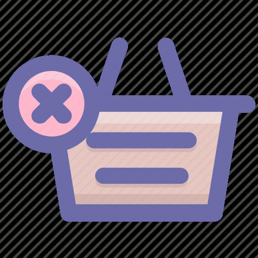basket, clothes basket, delete, ecommerce, reject, shopping, shopping basket icon