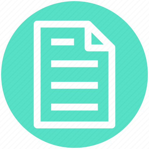 document, file, list, page, paper, sheet, shopping list icon