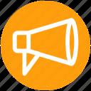 advertising, announcement, attention, loudspeaker, megaphone, round