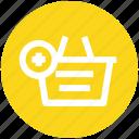 add, basket, clothes basket, ecommerce, plus, shopping, shopping basket icon