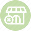 building, cross, market store, shop, shopping market, store icon