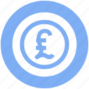 coin, currency, finance, money, pound icon