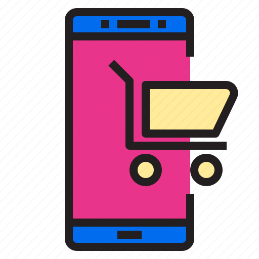 ecommerce, internet, online, payment, shopping, smartphone icon