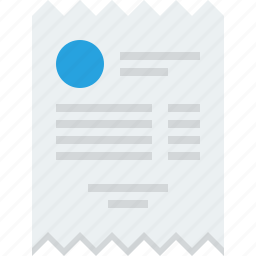 bill, check, cheque, commerce, invoice, market, receipt, retail, sale icon