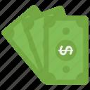capital, cash, finance, money, paper money icon