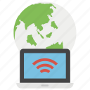 global access, global communication, global network, internet access, network access icon