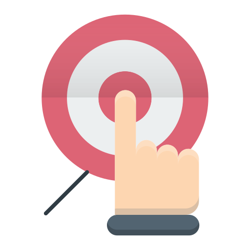 aim goal target focus icon free download on iconfinder aim goal target focus icon free