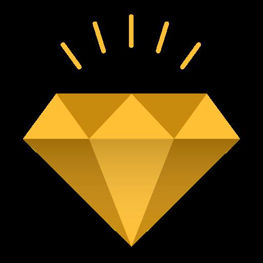 diamond, gemstone, luxury, precious stone icon