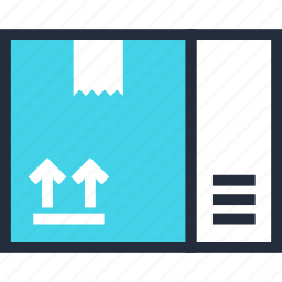 box, cargo, container, delivery, package, present, product icon
