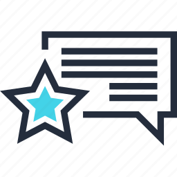 communication, favorite, premium, rating, reputation, shopping, speech icon