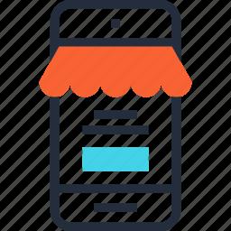 commerce, ecommerce, market, mobile, shop, shopping, store icon