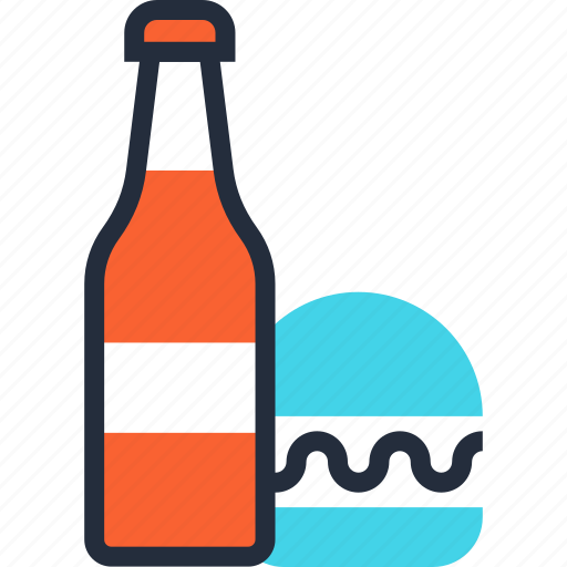 beverage, burger, drink, fast, food, goods, shopping icon
