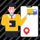 delivery navigation, track delivery, online delivery, mobile navigation, online delivery truck