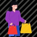 shopping, purchase, shopping girl, shopping woman, buyer