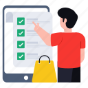 online shopping list, wishlist, todo list, online list, purchase list