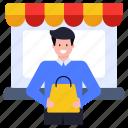 shopping, purchase, shopping boy, shopping person, buyer