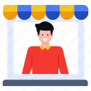 shop, shopkeeper, retailer, vendor, storekeeper