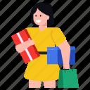 shopping, purchase, shopping girl, shopping woman, happy purchase