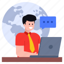 customer chat, global chat, worldwide chat, online chat, global message