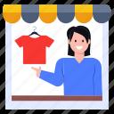 shirts shop, shopkeeper, storekeeper, clothes shop, outlet, vendor