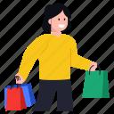 happy shopping, purchase, shopping girl, shopping woman, female buyer