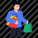 shopping, buying, buyer man, shopping person, shopping boy