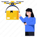 drone parcel, drone delivery, drone camera, drone copter, drone package